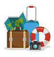 traveling around world icon vector image