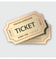Two cinema tickets pair Isolated on transparent vector image