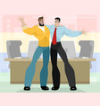 two friendly business partners vector image vector image