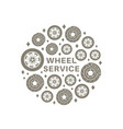 wheel service background vector image