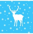 White deer amid the snow and stars vector image vector image