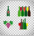 Wine logo with grape set