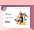 wine website landing page design template vector image