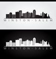 winstonsalem usa skyline and landmarks vector image vector image
