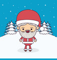 winter landscape background with full body vector image