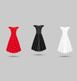 womens dress mockup collection dress with long vector image vector image