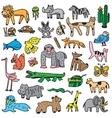 animals cartoons set vector image