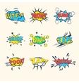 Common Comics Exclamations speech bubble vector image