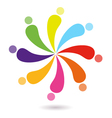 Colorful multicultural union simple sign vector image