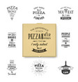 3d realistic blank brown craft paper pizza vector image