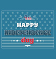 4 july happy independence day poster american flag vector image
