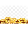 a lot coins on transparent background jackpot vector image vector image