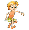 A young boy swimming vector image