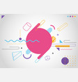 abstract modern trendy 3d geometric line colorful vector image
