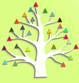 Abstract tree with colorful triangular leaves vector image vector image