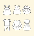 baby and children clothes collection vector image