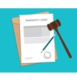 bankruptcy judge returns concept with vector image