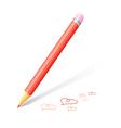 beautiful pencil vector image