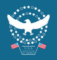 beauty eagle with american flag symbol vector image vector image