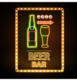 Beer bar Neon sign vector image vector image
