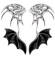 Black Dragon Wings vector image vector image