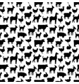 black farm animals silhouettes pattern design vector image vector image