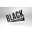 black friday 3d design banner vector image