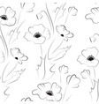 black poppy seamless pattern vector image vector image