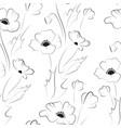 black poppy seamless pattern vector image