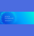 blue abstract business long banner template vector image vector image