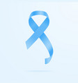 blue ribbon - prostate cancer awareness concept vector image vector image