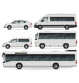 buses and cars vector image vector image