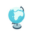 cartoon colorful earth globe graphic vector image vector image