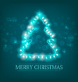 celebrating winter holidays turquoise poster vector image vector image