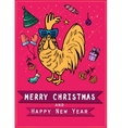 Chinese 2017 new year of the Rooster symbol Gold vector image vector image