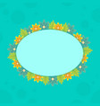 collection of frame with spring flower vector image vector image