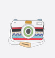 cute camera with a variety of patterns vector image