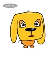 cute fun dog cartoon vector image vector image