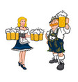 cute man and woman in national german costumes in vector image vector image