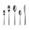 Cutlery set isolated vector image vector image