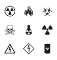 danger icons set vector image vector image