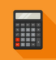 electronic calculator in flat style vector image vector image