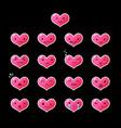 emoticons heart gradient 12 vector image