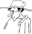 farmer cartoon coloring page vector image