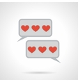 Flat color love message icon vector image vector image