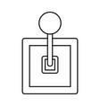 gearbox knob icon outline design isolated on vector image vector image