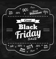 great sale in black friday chalkboard background vector image vector image