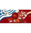 greece economy down financial crisis debt default vector image