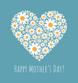 greeting card with happy mothers day phrase vector image vector image