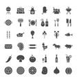 grill solid web icons vector image